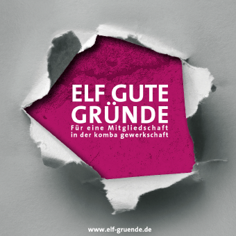 Elf gute Gründe für eine Mitgliedschaft in der komba gewerkschaft